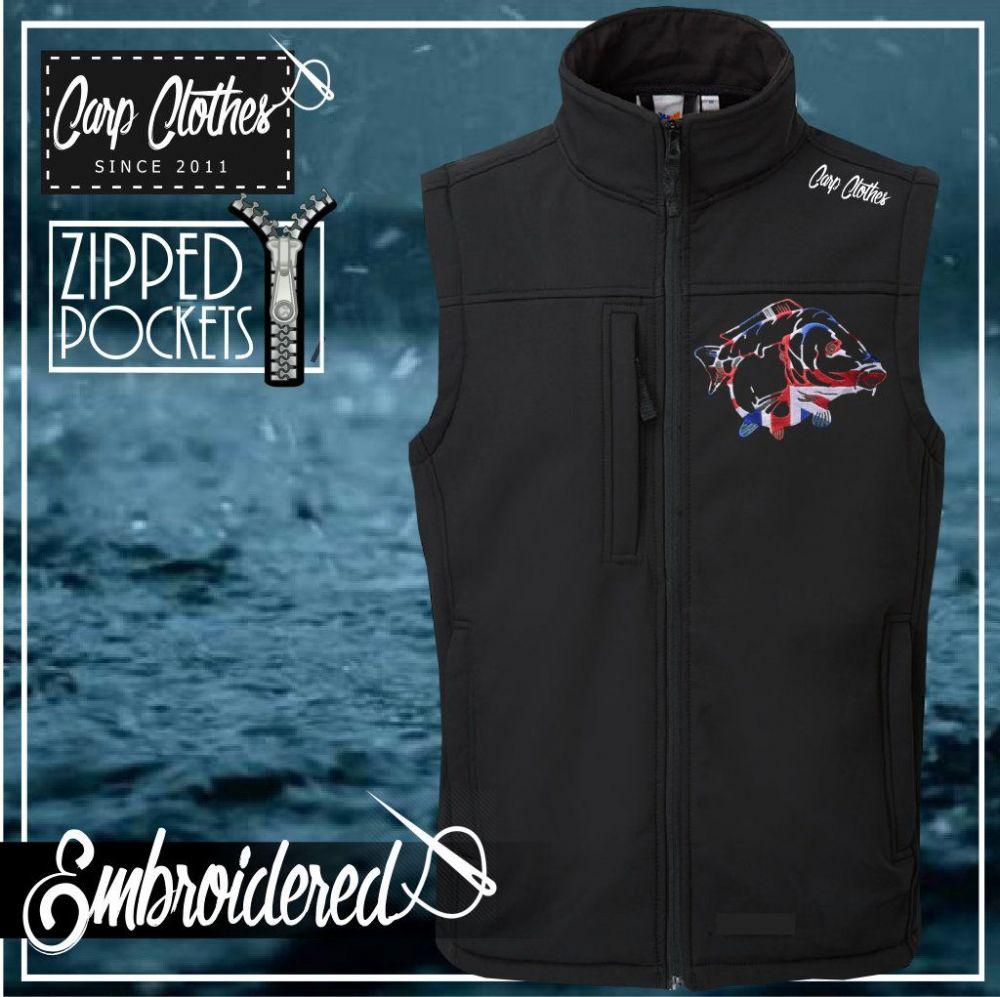 034 EMBROIDERED SOFTSHELL BODY WARMER